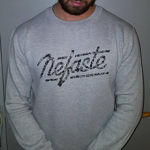 Vêtement sweat néfaste logo 2017 gris