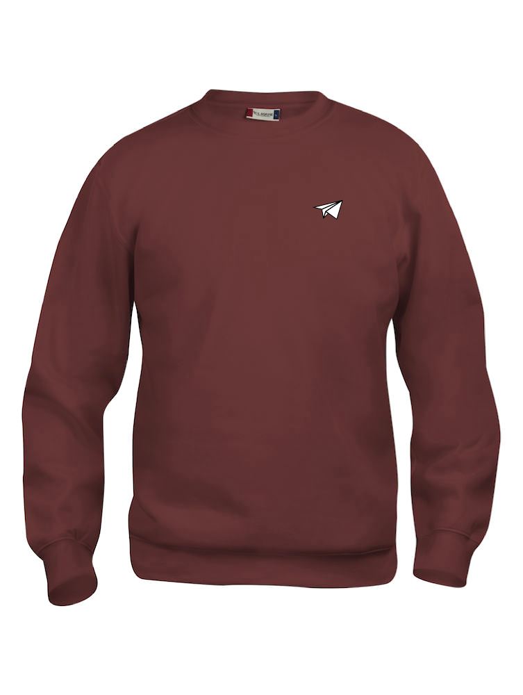 Vêtement sweat néfaste avion bordeaux face